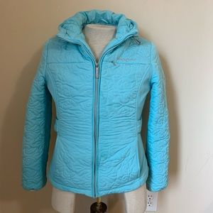 Zero Xposur Light Blue Hooded Winter Jacket Size M